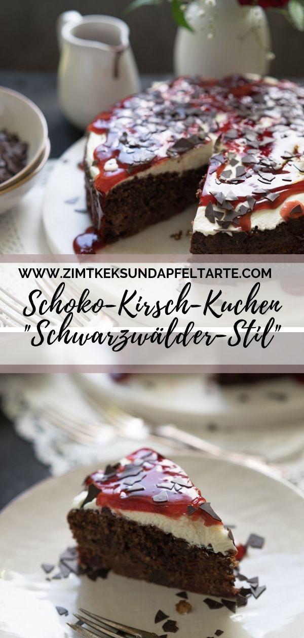 Saftiger Schokoladen Kirsch Kuchen Schwarzwalder Style Rezept Ruhrkuchen Mit Kirschen Schneller Kuchen Saftig