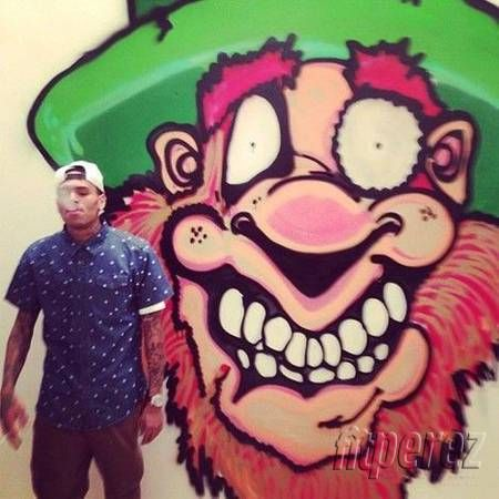 Chris Brown paints graffiti for charity.  So he is capable of doing good