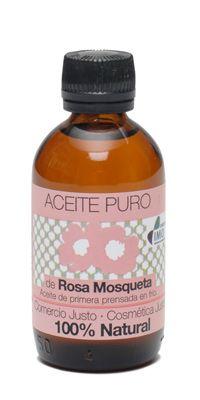 Aceite puro de Rosa Mosqueta  50 ml. Producto biológico certificado Envase económico de 50 ml. Obtenido en primera prensada en frío, para conservar las propiedades y beneficios del aceite intactas. Procedencia: Chile