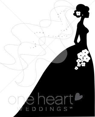 Bride and Groom Silhouette Clip Art | bride silhouette clip art pic 10 www weddingclipart com 20 kb 315 x ...