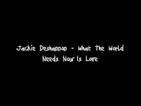 Jackie DeShannon - What The World Needs Now Is Love LYRICS - YouTube
