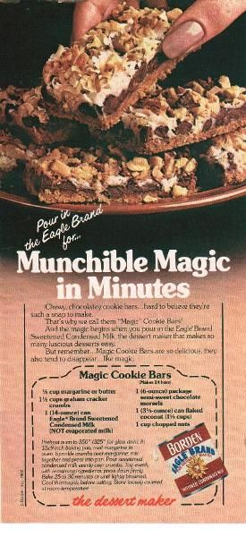 Magic Cookie Bars Recipe 1983 Borden Ad