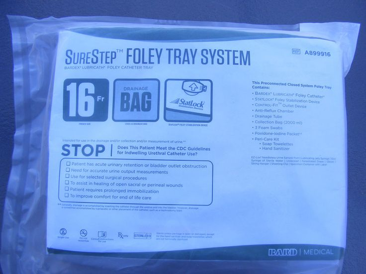 Bard Medical SureStep Foley Tray Urine Sure Step 16Fr tray kit A899916 NEW #BardSurestep