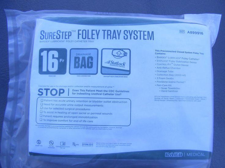 Bard Medical SureStep Foley Tray Urine Sure Step 16Fr tray kit A899916 NEW #BardSurestep