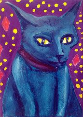 All Artwork - Bleu Leu A Cats Dream by Amy Marie Adams