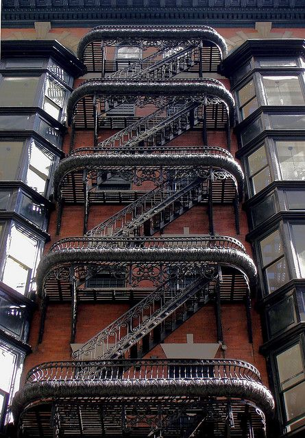 Most beautiful fire escape #Victorian #Steampunk #Metalwork