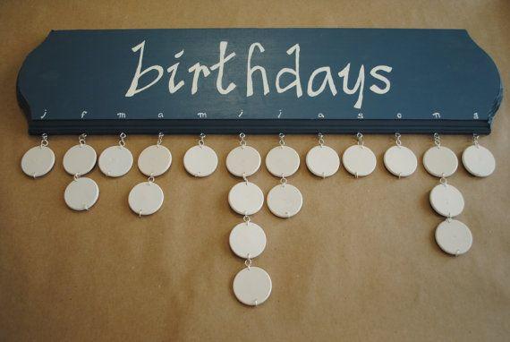 Hanging Birthday Organizer by GeauxCraft on Etsy, $40.00
