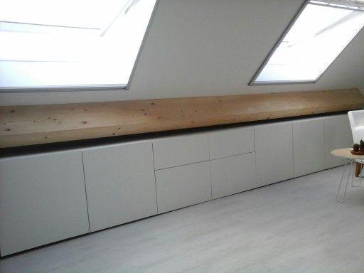 Ikea besta vine roof laag plafond slaapkamer opslag interieur
