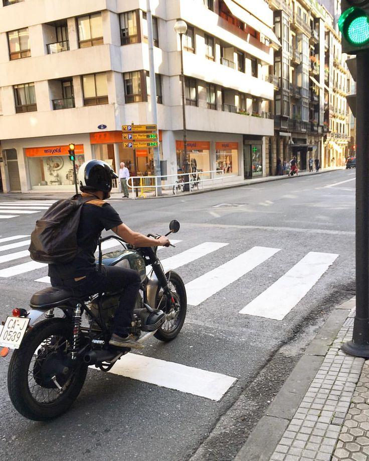 "komorebi-eus: "" Green light to ride…Go, go, go! Good morning!!! T-shirt with suede yoke and backpack availables on www.komorebi.eus #komorebi #motoclothing #komorebimotoclothing #premium #luxury #goods #madeinspain #menstyle #man #rider #style..."