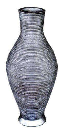 Bodenvase in der Höhe von 64,5 in der Farbe scharz-silber