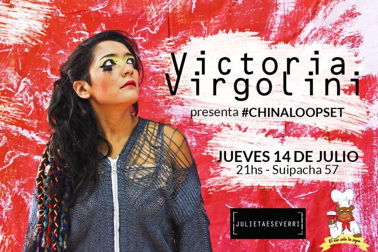 Diseño de flyer para Victoria Virgolini, presentación de su proyecto #ChinaLoopSet