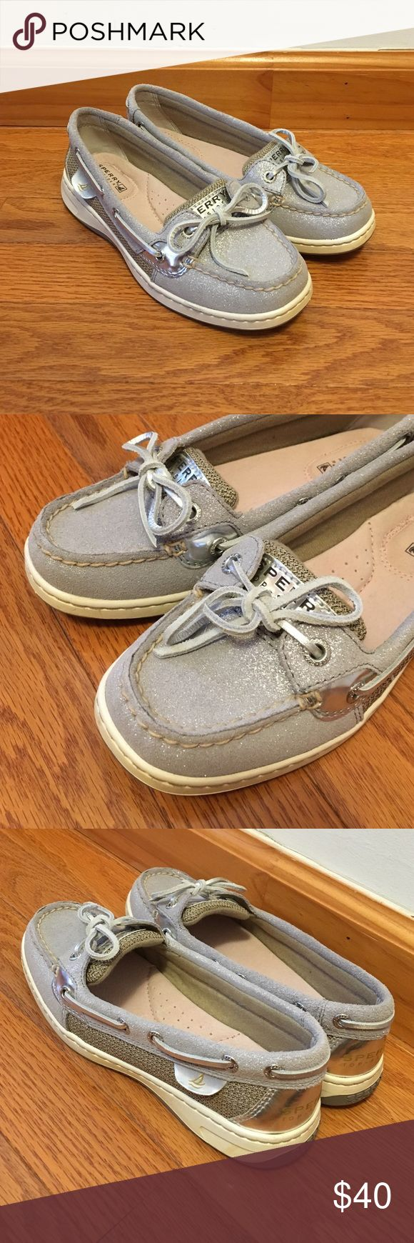 Silver Sperry Top-Sider Cute flats from Sperry - pretty silver design. Worn ONCE. Condition: New! Sperry Top-Sider Shoes Flats & Loafers
