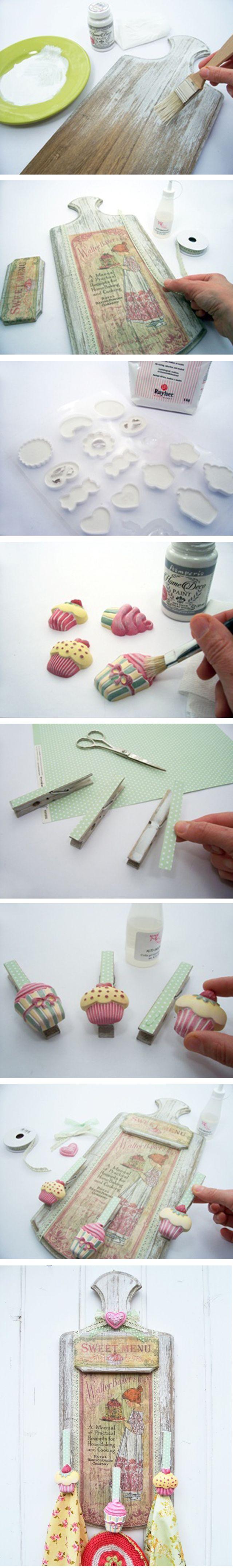 Un tutorial creativo per realizzare un porta asciuapiatti o presine per la cucina con applicazioni