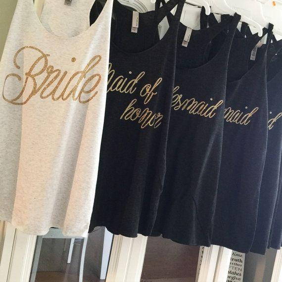 BRIDE SALE BLOWOUT monogram bridesmaid shirts by LineLiam on Etsy