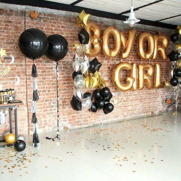 Black-gold-silver-big-balloon-tassel-garland-star-moon-boy-or-girl-gender-reveal-party
