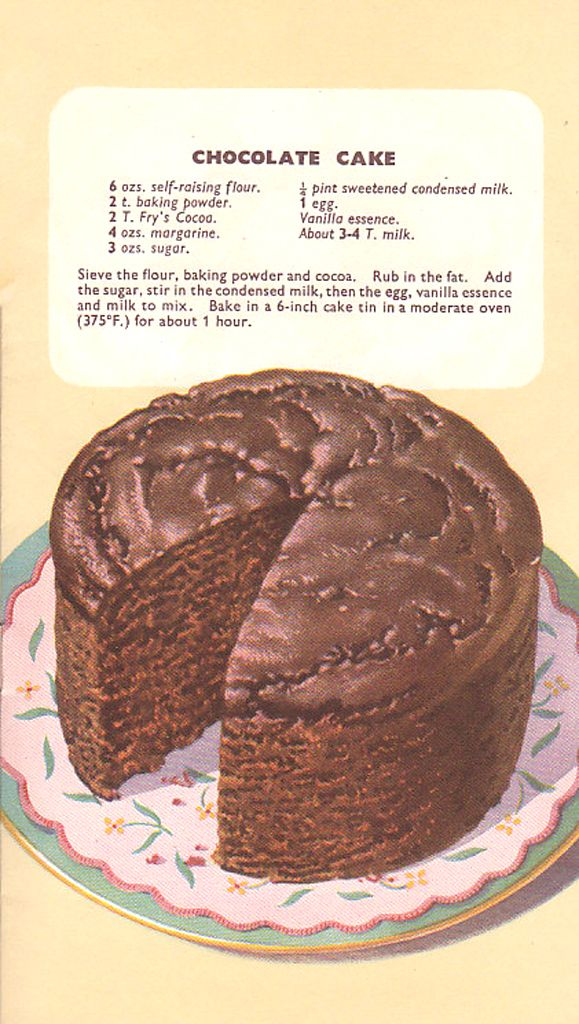 Fry S Cocoa Recipes Chocolate Cake Cake Recipes Cocoa