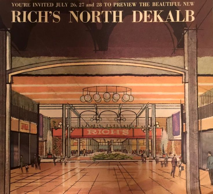 The Mall Of Georgia >> Rich's department store, North DeKalb Mall -- brochure from the grand opening in 1965. (More at ...