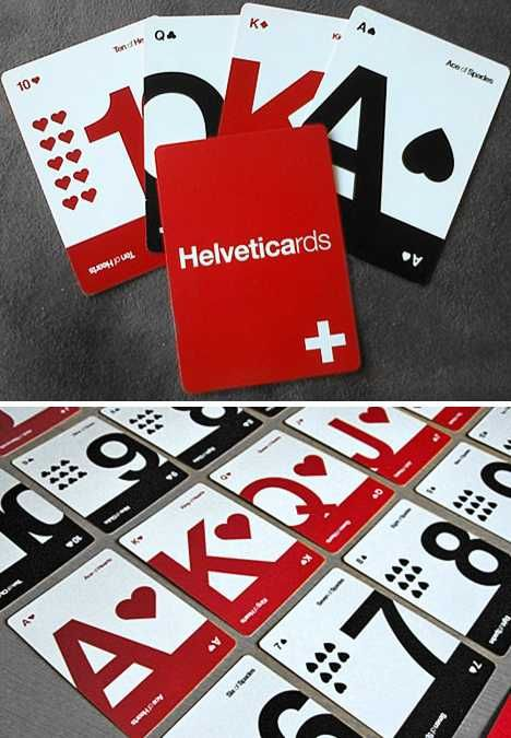 Helvetica playing cards. I love these!