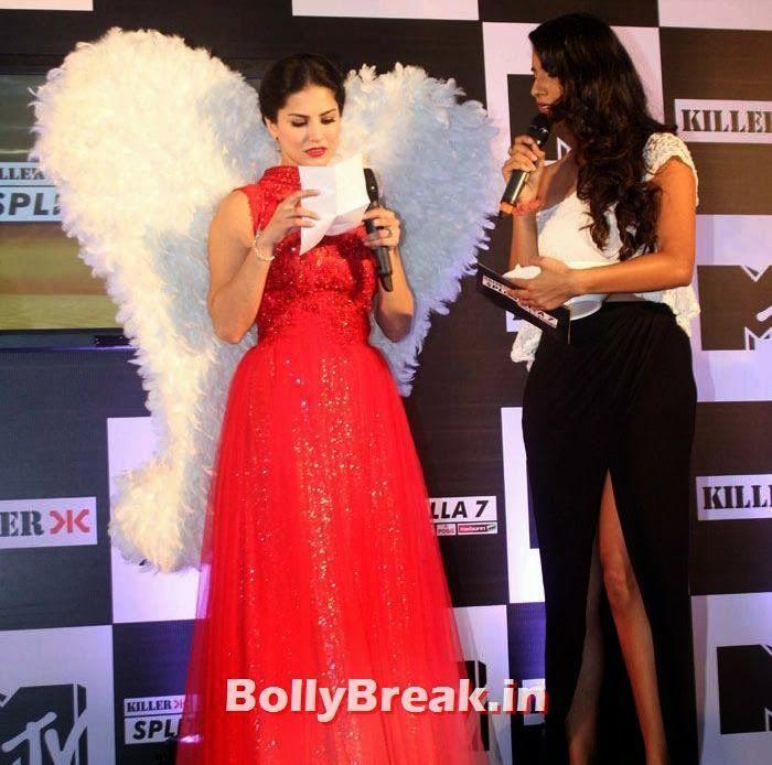 Sunny Leone Sunny Leone at MTV Splitsvilla Photos - Press Conference - Sunny Leone in Red dress  at MTV Splitsvilla Press Conference , #sunnyleone #mtvsplitsvilla