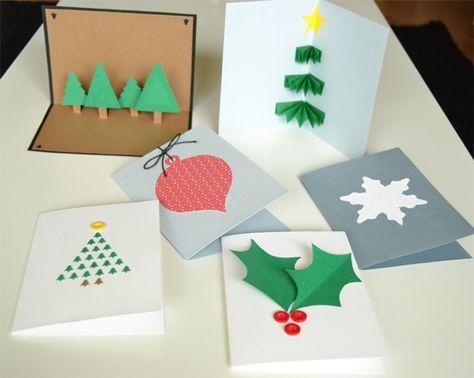La chica de la casa de caramelo: Felicitaciones navideñas hechas a mano