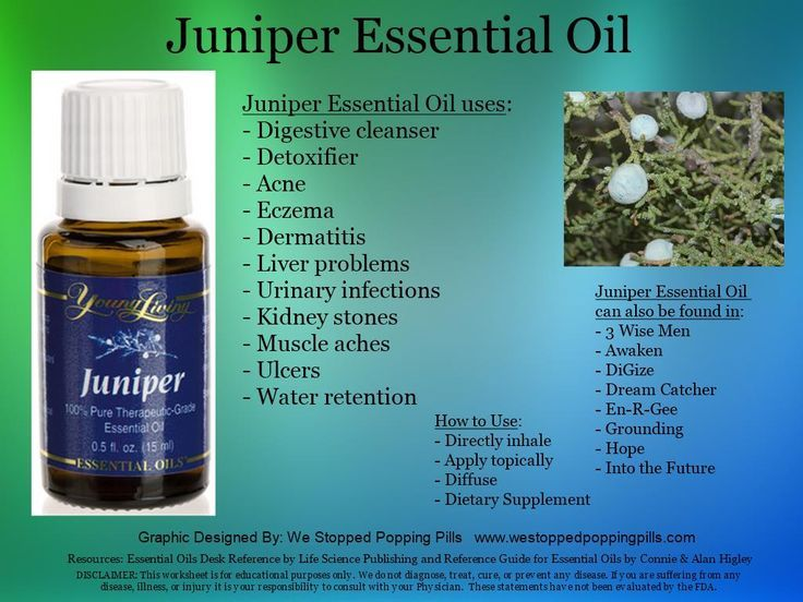 juniper essential oil young living - Google Search