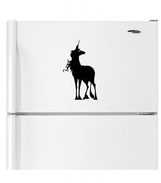 The last unicorn silhouette abcdecal unique movie book and nerd culture decals