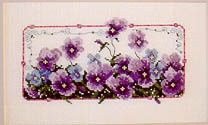 Oh Those Purple Pansies - Cross Stitch Pattern