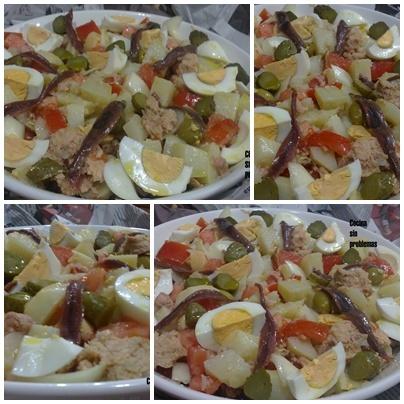 Cocina Sin Problemas: Ensalada de patata con vinagreta de anchoas y pepinillos