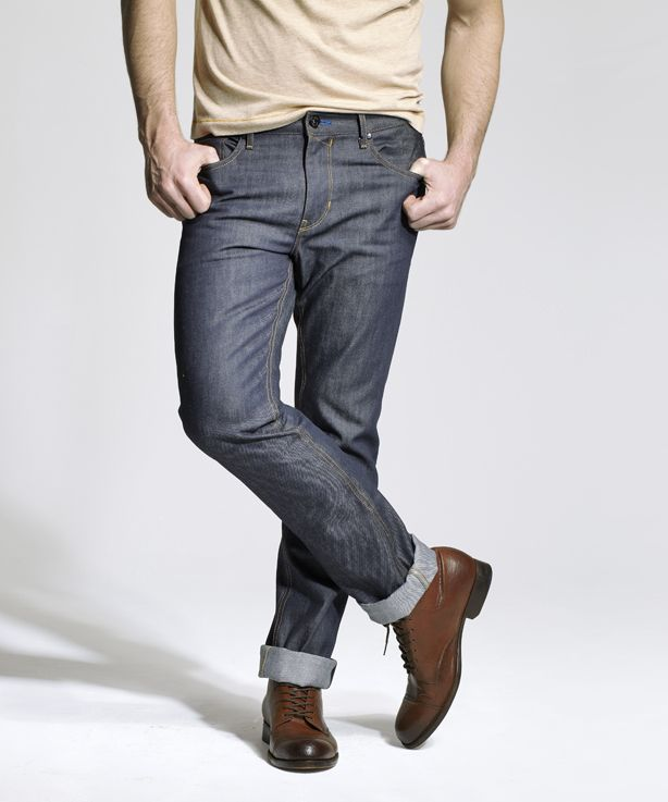 Low-to-medium rise, slim, but not skinny #denim. Good now, good forever. How men's #jeans should fit.