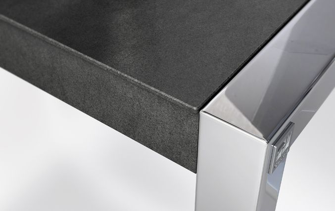 House table by Cancio Muebles (Basalt Black model). #Neolith #FusionCollection