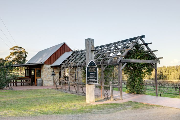 Sandstone wedding chapel at Peppers Creek wedding venue in the Hunter Valley. A perfect vineyard wedding.