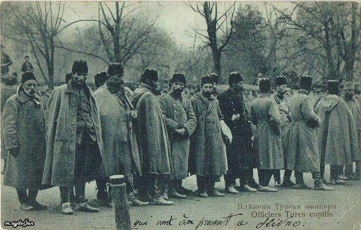 Balkan wars officier Turcs captifs - Balkan savaşı.esir subaylarımız.