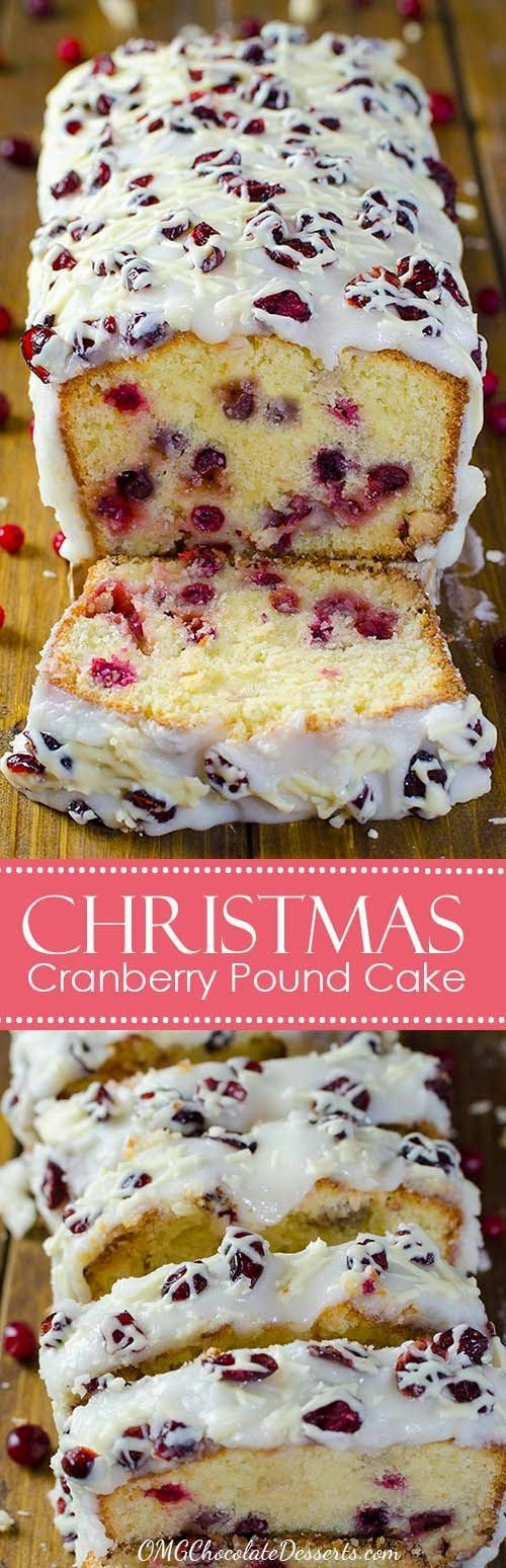 Thinking about Christmas recipes ? You simply have to try this heavenly Christmas Cranberry Pound Cake!