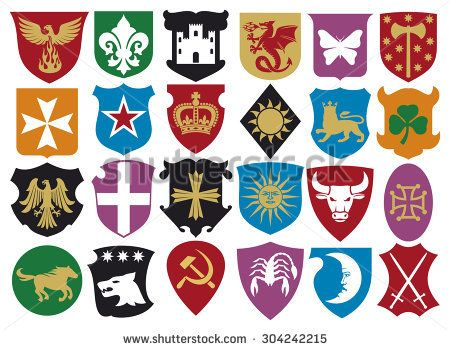 coat of arms collection (heraldic design elements) | fantasy