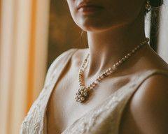 Pearl & Swarovski Crystal Embellished Necklace, Meredith. €99
