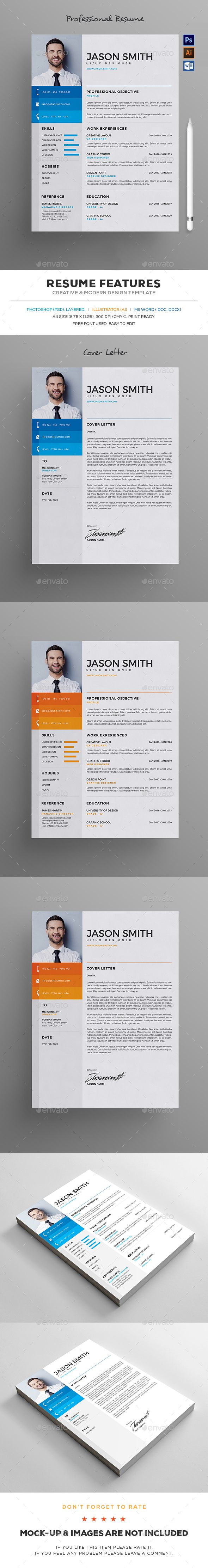 Resume by UXcred FEATURES:Easy customizable and editable 300 DPI CMYK Print Ready! 8.5脳11 (8.75鈥?20x 11.25鈥?20with bleed) 100% Layered and Full Editabl