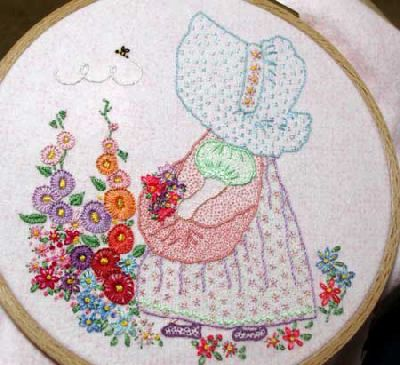Vintage style embroidery