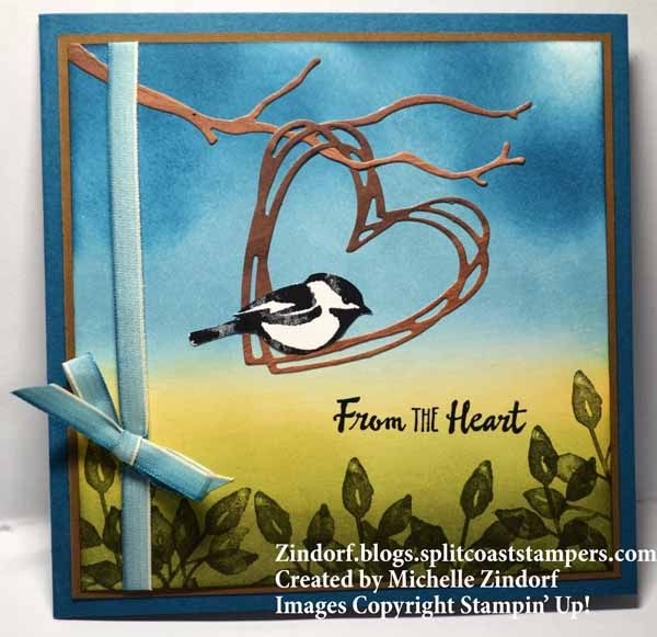 llo there and happy Friday! I've got a heartfelt card for you today featuring some die cuts and the cute little Chickadee from the Petal Palette Stamp set. I love this little bird because he is large