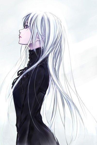 White hair female anime