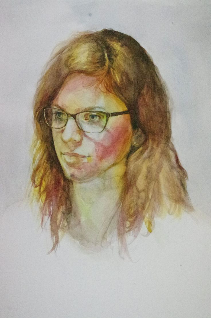 akwarela, aquarel, malarstwo, watercolor, portret, portrait