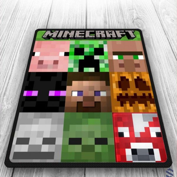 Minecraft All Character Design Creeper Blanket