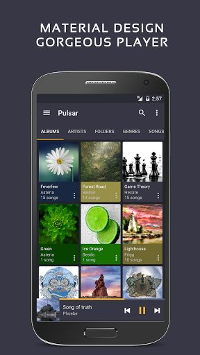 Pulsar Music Player v1.4.5 [Pro]   Pulsar Music Player v1.4.5 [Pro]Requirements:4.0Overview:Pulsar isintuitive lightweight andfull featuredmusic player for Android.  Pulsar is lightweightintuitiveandfull featuredmusic player with material design.  Features:  Gorgeous userinterfaceand animation with material design.  Manage and play music by album artist folder and genre.  Smart playlists with most played recent played and newly added tracks.  Automatic sync missing album/artist images.  Fast…
