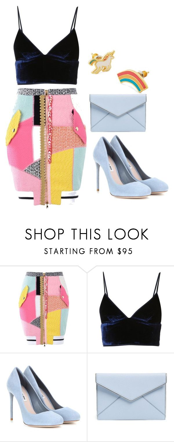 """""""Untitled #301"""" by racita on Polyvore featuring Moschino, T By Alexander Wang, Miu Miu, Rebecca Minkoff and Yellow Owl Workshop"""