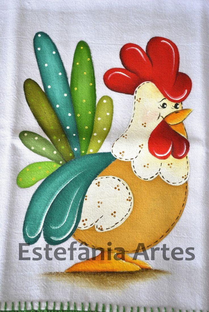 galinhas pintura em tecido - Pesquisa do Google
