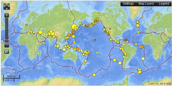 Real-time Earthquake Map: Message, Risk, Mapas Señales, Pbl Earthquakes, Real Time Earthquake, Earthquake Map, Earthquake Strikes, Teaching Earthquakes, Magnitude Earthquake