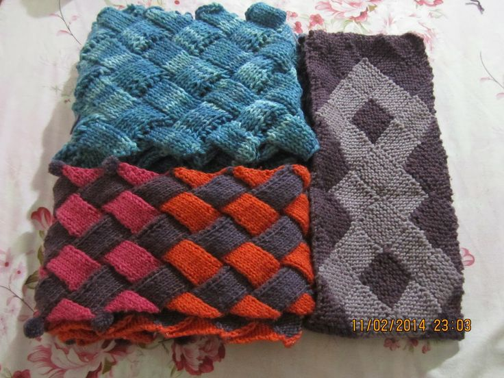 17 Best images about Entrelac Knitting Patterns on Pinterest Bags, Stockine...