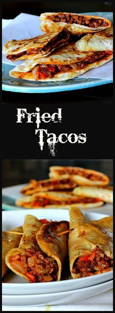 Ground Beef Fried Tacos. Crisp up your next taco night. Great Mexican recipe with a unique seasoning for the ground beef Mixture. via @lannisam