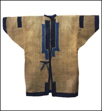 Antique Ainu quo Attusquot Ceremonial Jacket. The Ainu were an indigenous people of Japan whose intermarried descendants today live in the northernmost island of Hokkaido. Ainu culture is historically different from Japanese culture, and their traditional clothing differs as well.