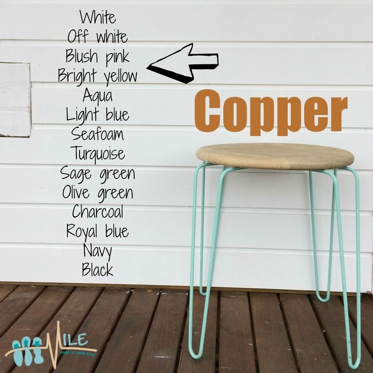 Copper goes with...
