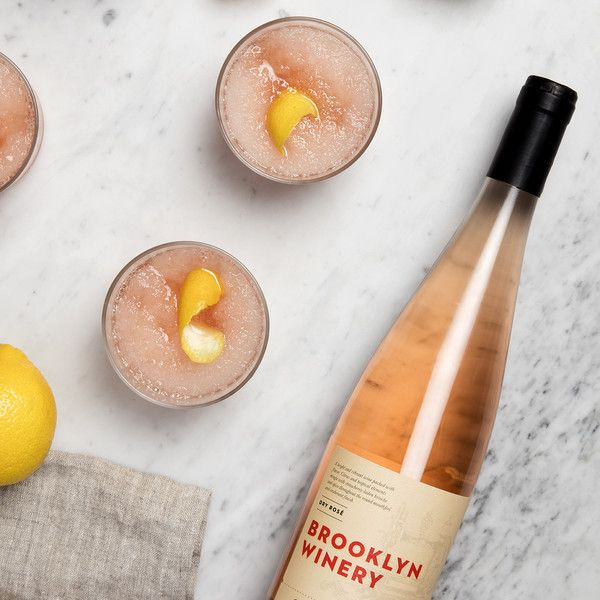 Stop by the Brooklyn Winery wine bar and stock up on Dry Rosé to make W&P Design's delicious and refreshing frozen rosé cocktail! Check out the recipe!